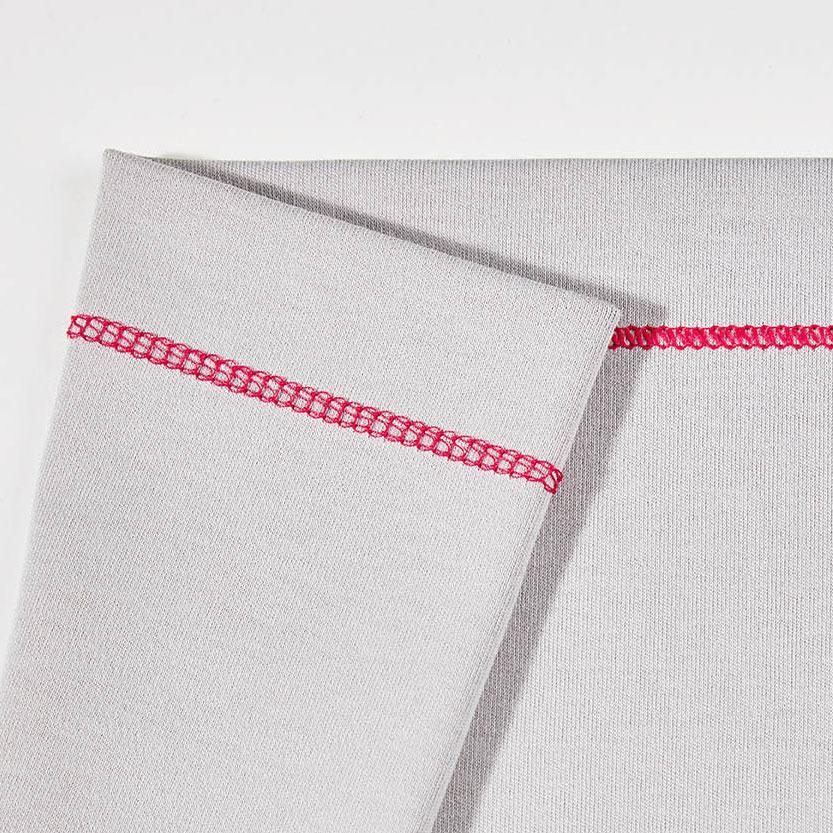 Плоский шов с верхним застилом (узкий)